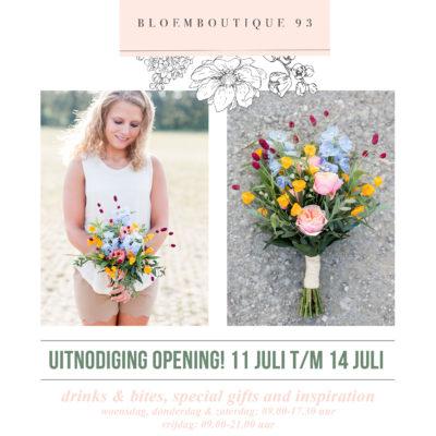 Openings Flyer Bloemboutique 93