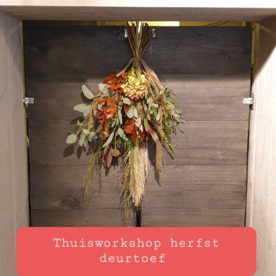 Thuisworkshop herfst deurtoef maken